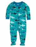 Hatley Footed Coverall Great White Sharks,  Available In   3-6, 6-12  12-18 Months spring Summer 2016
